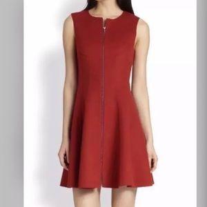 NEW THEORY Bobbi Wool Zip Up Sleeveless Dress